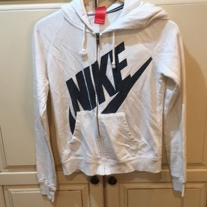 Womens nike hoodie white xs